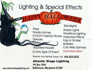 Halloween Lighting & Special Effects Rentals Baltimore Maryland