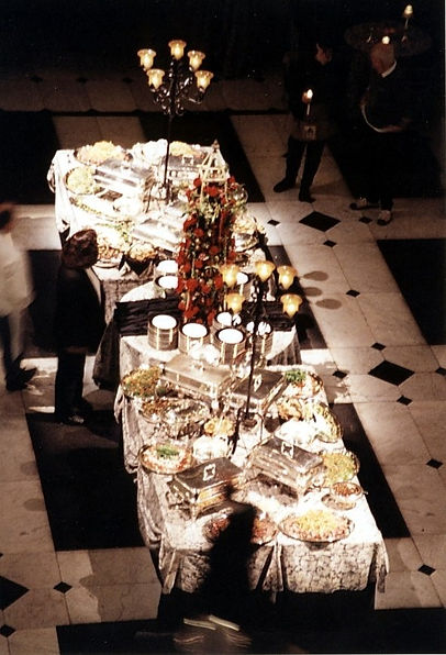 Wedding Food Table Lighting