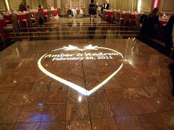 Wedding Dance Floor Monagram Lighting