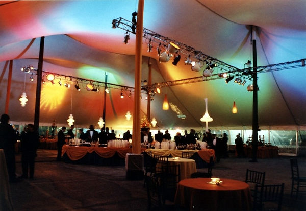 Cirq after party Tent Lighting