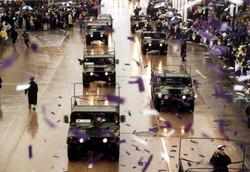 Super Bowl Parade Confetti Launch