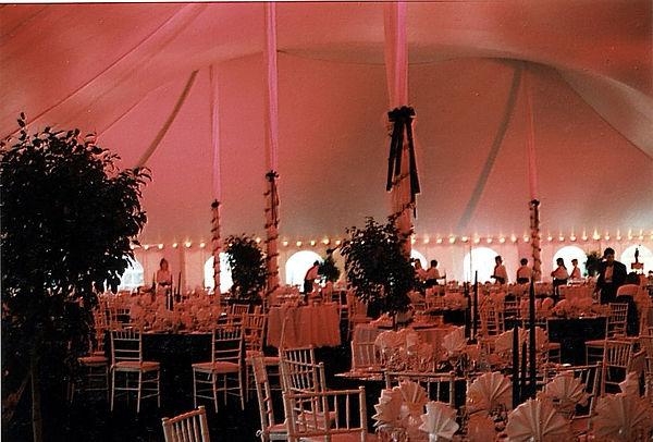 Wedding Dining Area Tent Lighting