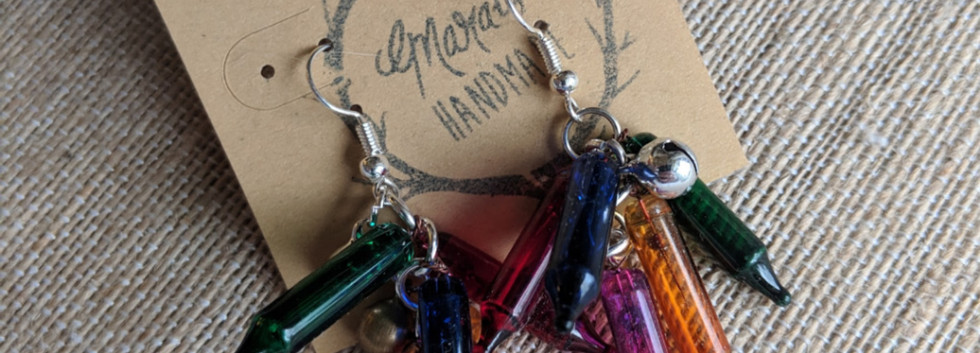 Christmas Light Earrings by Marais Handmade
