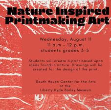 Nature Inspired Printmaking Art