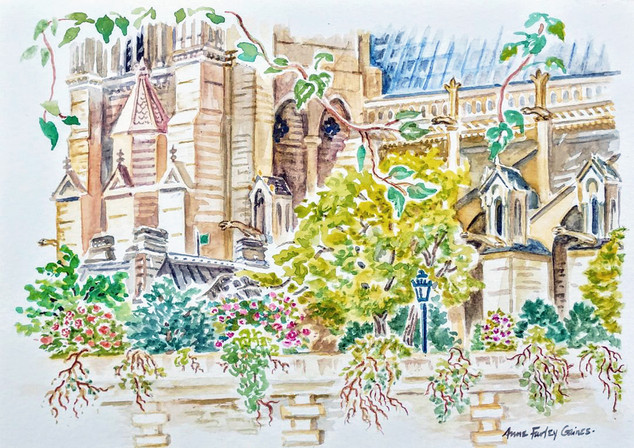Notre Dame in July, Paris by Anne Farley Gaines
