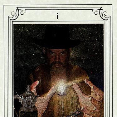 The Magician, Tarot del Río de las Ánimas Perdidas by Brandin Barón