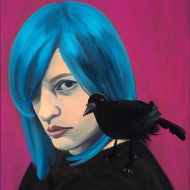 Self-Portrait, Messenger by Lauren E. Peters