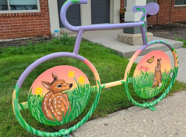 Erica Bradshaw, Finished Mural Bike Rack
