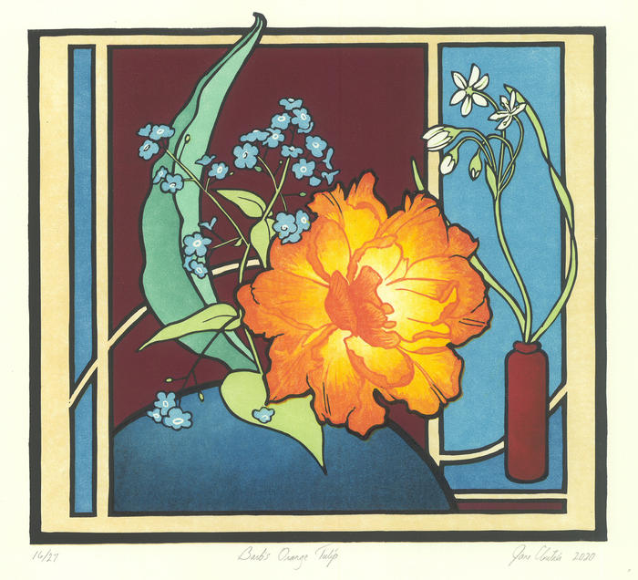 Barb's Orange Tulip by Jane Cloutier