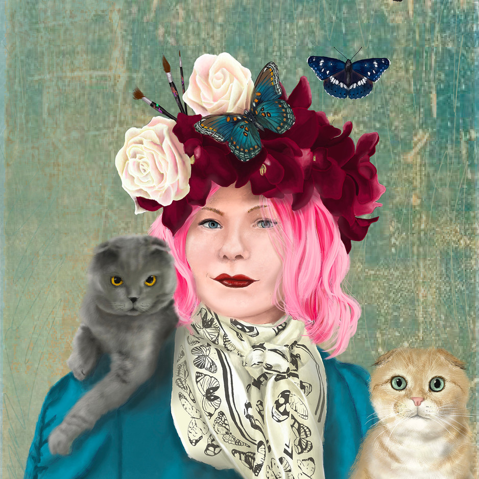 Self-Portrait In The Style Of Frida Kahlo by Kimberly Lyons