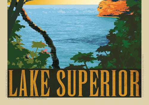 Lake Superior by Martens Printworks
