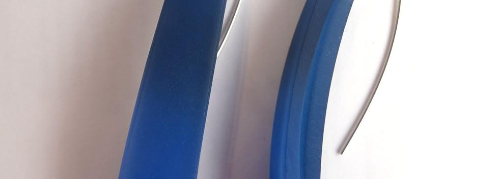Long drops deep blue earrings by Maggie Joyce