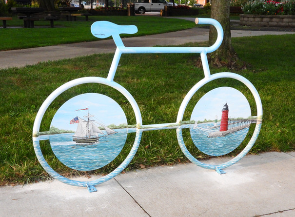 Jessica Byers, Mural Bike Rack, Installed in Dyckman Park. Photo by Tom Renner.