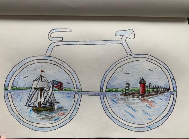 Jessica Byers, Bike Rack Sketch