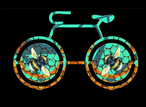 Sam Dustin, Mural Bike Rack Sketch