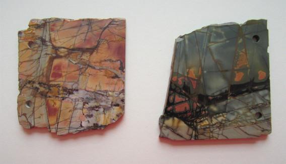 Two slices of Jasper stone