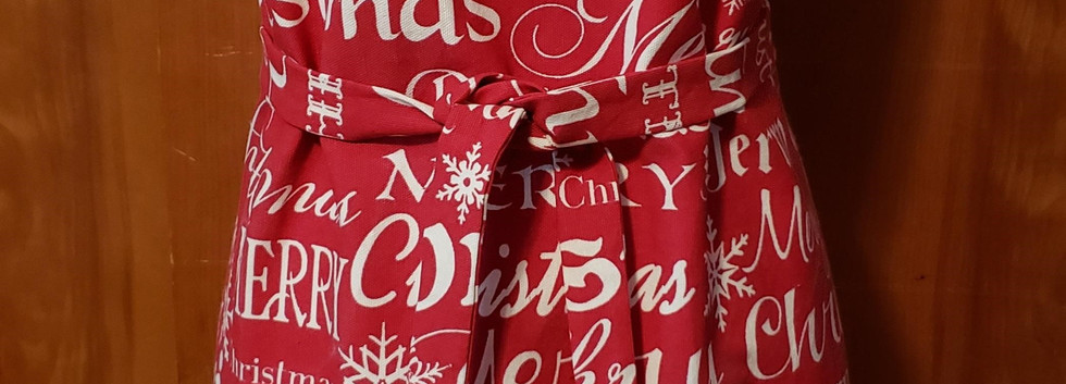 Merry Christmas Apron by Angie Larsen