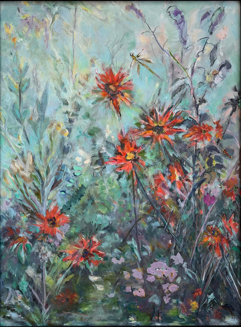 Bee Balm Day by Jeanne Fields