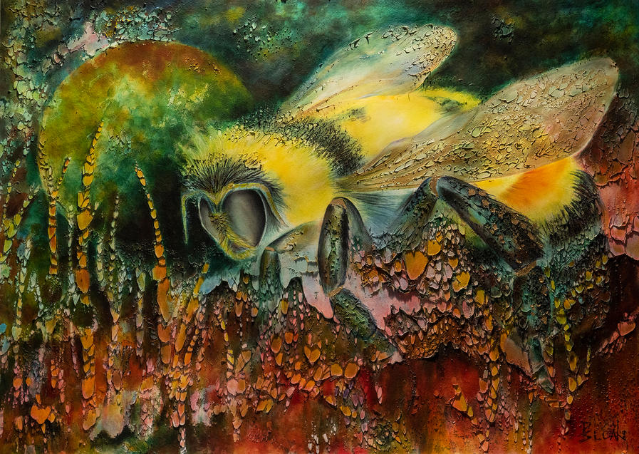 Rusty Patched Bumble Bee by Pamela Sloan