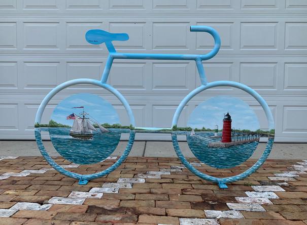 Jessica Byers, Finished Mural Bike Rack