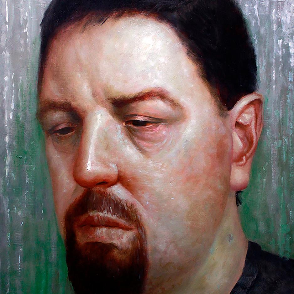 Rainy Window Self-Portrait by Bruce Erikson