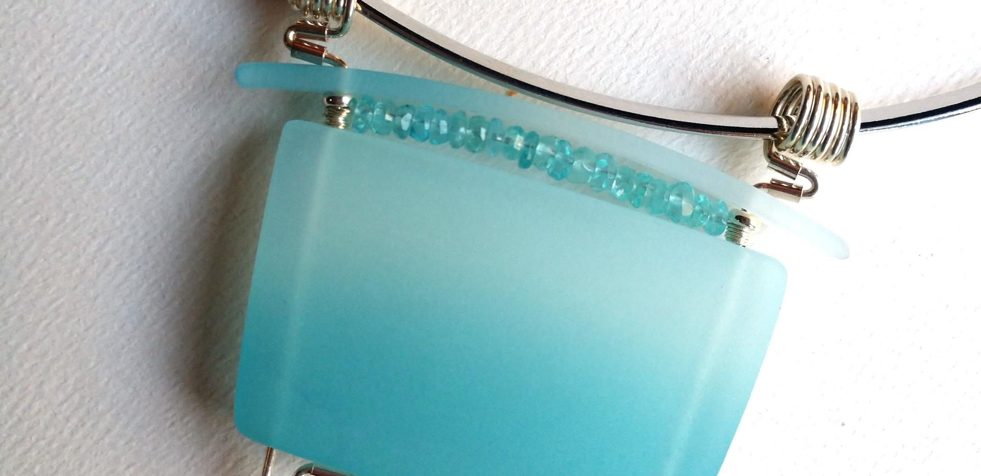 Gemstone Pendant Aqua by Maggie Joyce