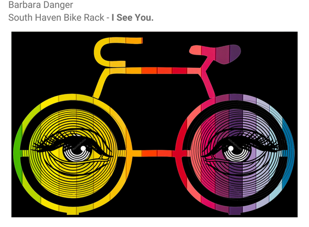Barbara Danger, Bike Rack Sketch