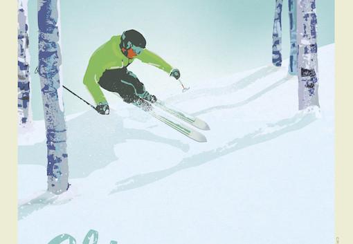 Ski Michigan by Martens Printworks