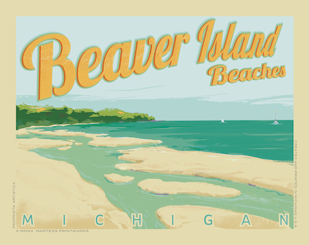 Beaver Island by Martens Printworks