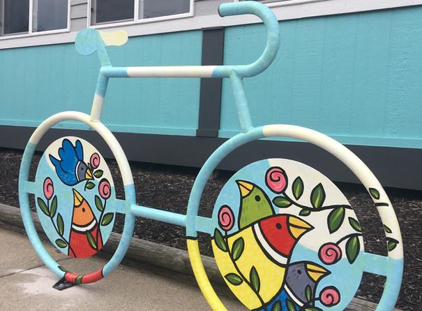 Carolyn Fink, Mural Bike Rack, Installed on Quaker Street.