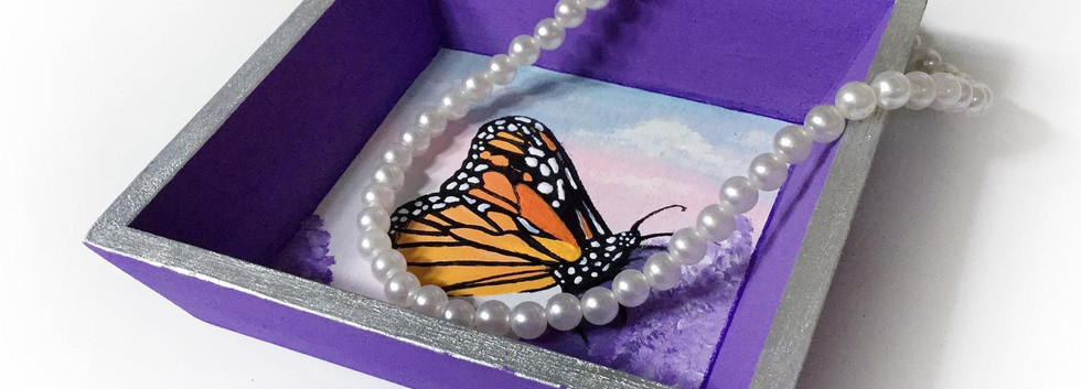 Hand painted trinket tray by Christine Banks