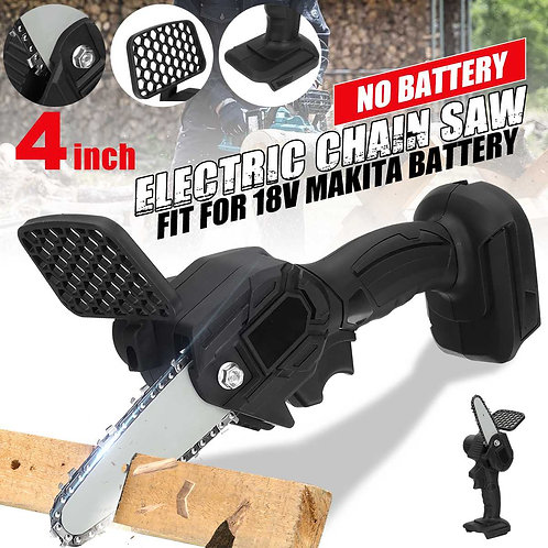 Mini Electric Chain Saw 4 Inch 600W Cordless Pruning for 18V Makita Battery