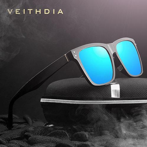 Photochromic Polarized Sunglasses Men Classic Square Design
