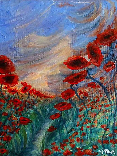 peinture-fleurs-coquelicots