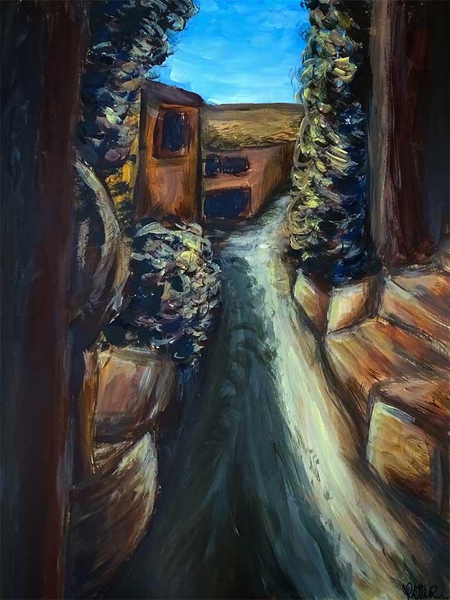 peinture paysage contemporaine
