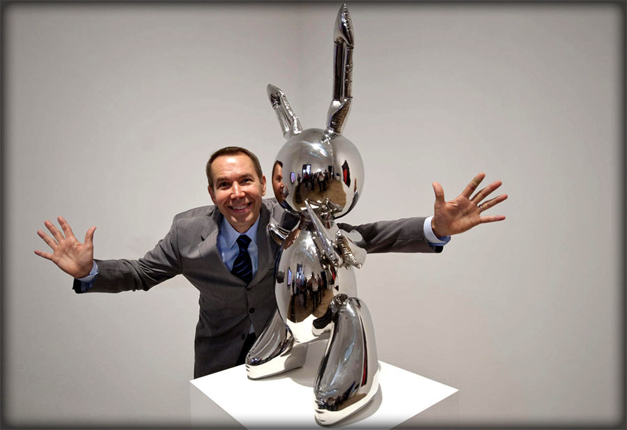 jeff koons artiste contemporain rabbit