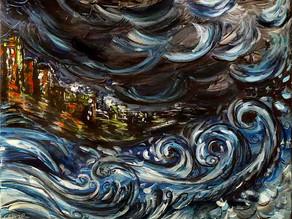 La vague urbaine - Peinture abstraite moderne de ville