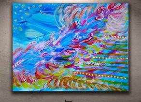 Euphoria tableau coloré petit format 18 x 24 cm
