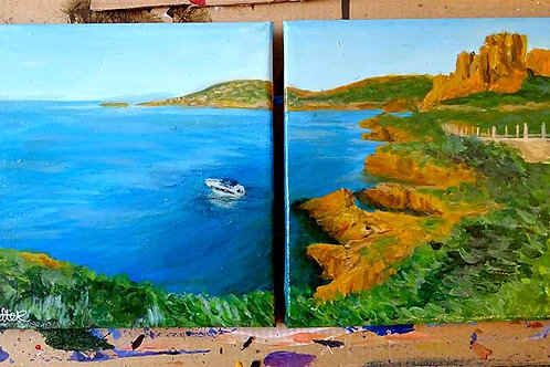 """Modern landscape painting - """"Agay 2"""""""