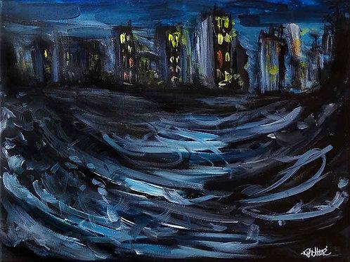 peinture abstraite urbaine