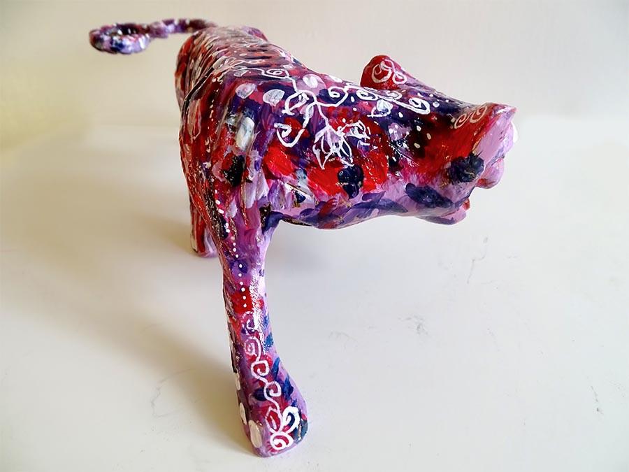 sculpture léopard pop art