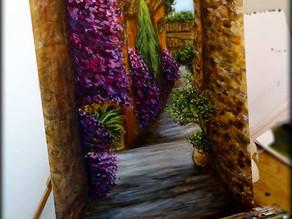 Peinture de paysage - Bormes les Mimosas