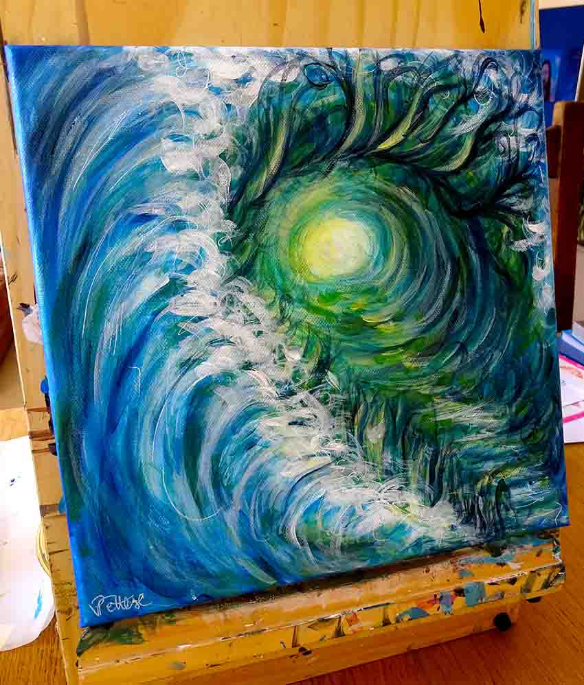 peinture colorée expressionniste