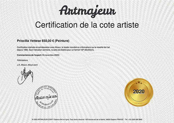 certification cote akoun priscilla vettese
