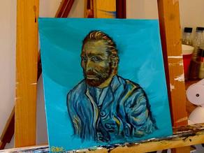 Tableau figuratif moderne, portrait peinture de Van Gogh