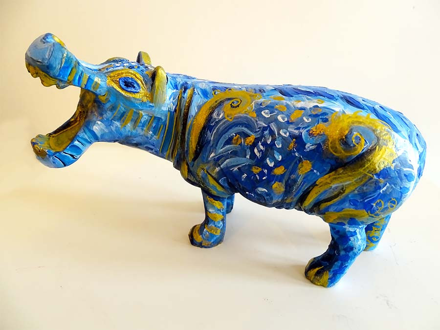 sculpture hippopotame