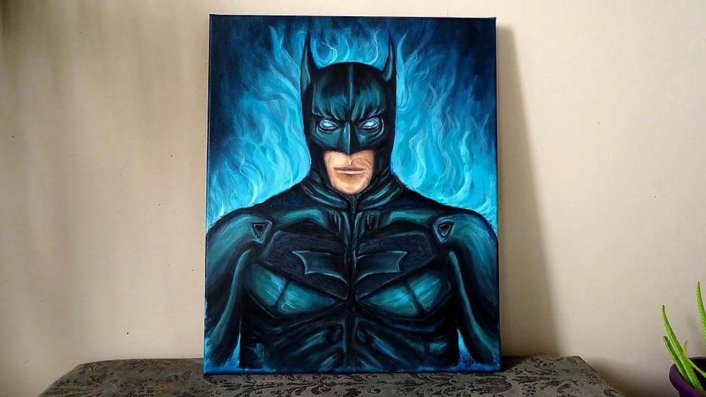 peinture pop art héros batman
