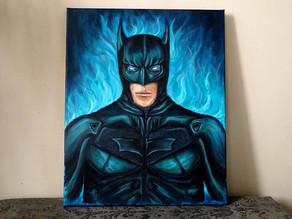 Peinture pop art originale du Batman