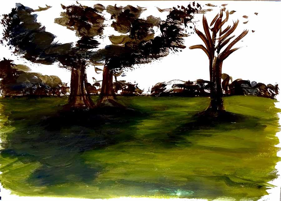 vert peinture paysage