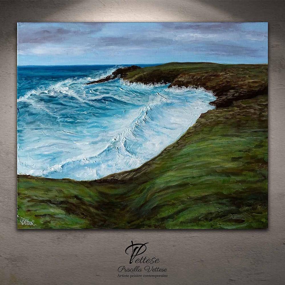 peinture paysage mer